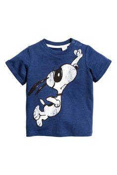 Printed T-shirt - Blue/Snoopy - Kids | H&M 1