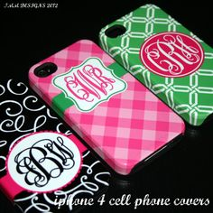 Monogrammed iphone 4 Cases