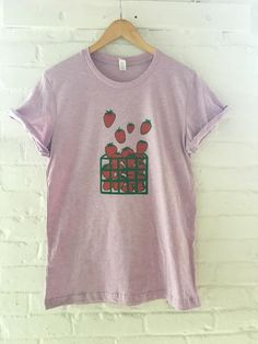 ab4cf7643 Strawberry Shirt, Graphic Tee, Gardening Foodie Gift, Soft Style Tee