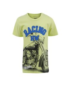 Camiseta com Estampa Hot Wheels Menino Verde Claro - cea