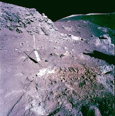 Orange soil (from volcanic glass beads) is clearly visible in this image from Apollo 17. (Credit: NASA)