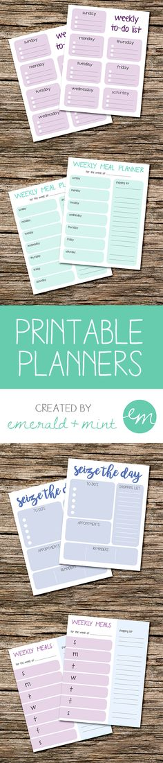 Printable Daily and Weekly Planners