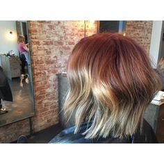 """""""Thank you Gentry, for letting me create this #fall #colormelt ! Color & Cut by Chrissy Reiff at PARLOUR Cincinnati #hair #theinspiredindustry #davines…"""""""