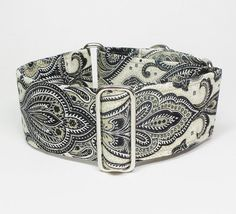 2 Inch Martingale Collar Black and Tan by GramaryeCottage on Etsy, $24.00