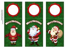 - Green Santa Wine Tags are approx in. There is also a guide line for the fold.They say Merry Christmas and are great for. Christmas Tag, Christmas Ornaments, Green Santa, Wine Tags, Embellishments, Paper Crafts, Seasons, Holiday Decor, Design