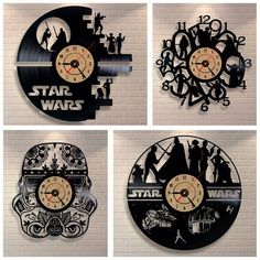 Star Wars 3D Vinyl Cut-Out Record Wall Clock