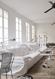 white cover- twin mattresses on palettes