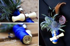 Wedding Bouquets With Duck Calls . Duck Call, Bird Band, And Feather. So Unique And Gorgeous Love It Camo Wedding, Wedding Bells, Our Wedding, Dream Wedding, Duck Hunting Wedding, Wedding Stuff, Double Wedding, Wedding Things, Rustic Wedding