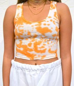 cotton cropped ribbed baby tank, hand dyed in Los Angeles Bleach Tie Dye, Tye Dye, Tie Dye Outfits, Diy Outfits, Summer Outfits, Tie Dye Fashion, Cute Lazy Outfits, Teenager Outfits, Diy Clothes