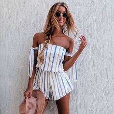 d9a64ce20db14 love these stripes!  summeroutfit  summerfashion  summerstripes casual  outfit