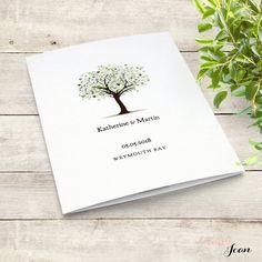 Tree Wedding Program template, 'Tree of Love'. Edit, print, fold | DIY Editable printable order of service template | Word files A4, 8.5x11