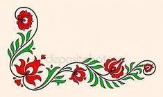 Geleneksel Macar çiçek motifi — Stok İllüstrasyon #76145249