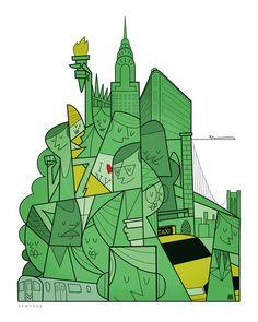 New York (Art Print by Ale Giorgini)