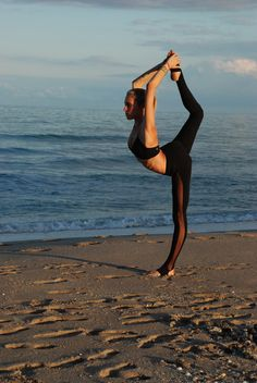 Beach Yoga #need to learn how to do this!!!!!
