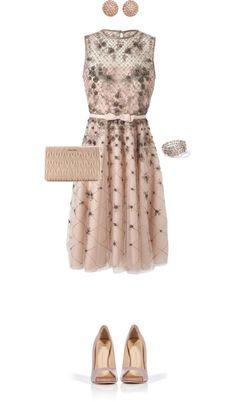 """Blush Dress"" by angela-windsor on Polyvore"
