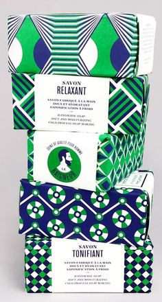 geometric design with blue, green, and white rather than something cutesy is designed to appeal to a more male audience.This geometric design with blue, green, and white rather than something cutesy is designed to appeal to a more male audience. Geometric Patterns, Print Patterns, Soap Packaging, Brand Packaging, Design Packaging, Product Packaging, Packaging Ideas, Green Colour Palette, Colour Palettes