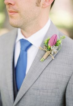 groomsmen boutonniere rustic wedding bridal accessories artificial tulips by IrynaFleur on Etsy Boutonnieres, Succulent Boutonniere, Rustic Boutonniere, Groomsmen Boutonniere, Groom And Groomsmen, Groomsmen Outfits, Groom Attire, Wedding Men, Wedding Suits
