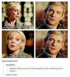 His Last Vow. What if Mary was one of the assassins? let's take a breath, if John still loves her, so do we.>>As long as she doesn't shoot Sherlock again. Sherlock Fandom, Sherlock Holmes, Sherlock Quotes, Watson Sherlock, Sherlock John, Johnlock, Destiel, His Last Vow, Mrs Hudson
