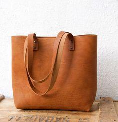 Camel Leather tote bag. Cap Sa Sal Bag. Handmade.