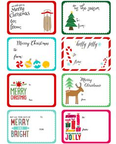 Free christmas gift tag templates
