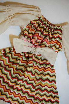 Fall Chevron Thanksgiving Peasant Tunic Dress by VeryChicBaby, $45.00