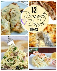 12 Romantic Dinner Ideas!  It doesn't take a lot to turn ordinary into extraordinary!  Here are some great tips and recipes for the perfect romantic dinner!