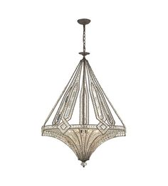 ELK Lighting Jausten 7 Light Chandelier in Antique Bronze 11784/7 #lightingnewyork #lny #lighting
