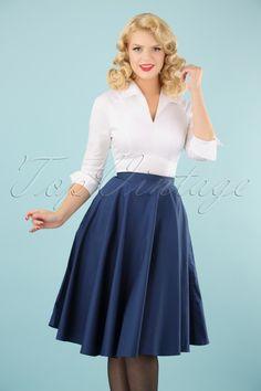 Bunny Navy Blue Swing Skirt 122 31 12050 20140601 001 (2)w