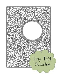 Cobblestones Adult Coloring Page Instant by TinyTrollStudios