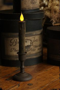 candlelight like the old days. Primitive Lighting, Primitive Candles, Primitive Crafts, Primitive Christmas, Country Primitive, Primitive Furniture, Prim Decor, Country Decor, Country Style