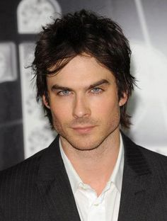 Ian Somerhalder you have the most beautiful eyes I have ever seen besides mine lol!!!