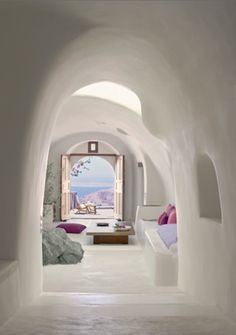 I am in love with the walls, archways, seating area...just perfect for me.