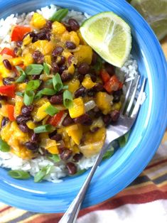 Black Bean, Mango & Coconut Rice Bowls
