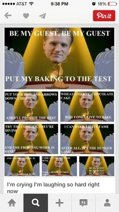 HILARIOUS Hunger Games/Disney Crossover meme - I laughed so much when I first saw this! #Lol #Peeta #Funny