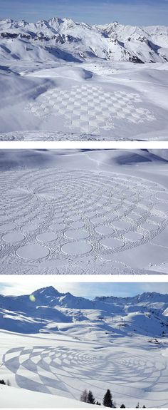 Amazing! Snowshoe art by Simon Beck :: simon_beck