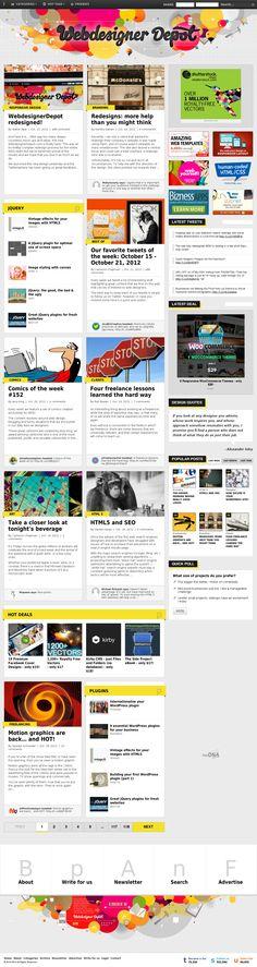 WebdesignerDepot redesigned! #webdesign #design #web