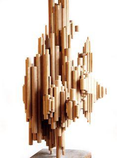 VintageModSSF - Mid-century Modern Abstract Wooden Sculpture -SOLD-