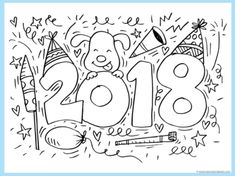 FREE 2018 Coloring Pages | The Frugal Free Gal