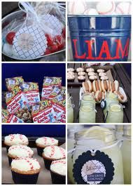 a baseball party!! this would be so cute for Lincolns next bday!!