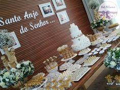 Festa Infantil | Batizado anjos dourado e branco para Manuela | Belo Horizonte/MG