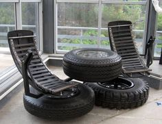 trendy ideas for cool outdoor furniture old tires Tire Furniture, Garage Furniture, Car Part Furniture, Automotive Furniture, Automotive Decor, Recycled Furniture, Cool Furniture, Modern Furniture, Outdoor Furniture Sets