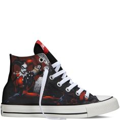 5a20d3810091 New Converse Womens Chuck Taylor High Top Harley Quinn DC Comics Size 11