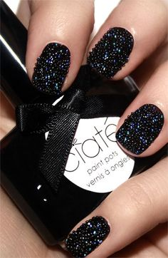 Weekend nail inspo? We're dying to try this Ciaté Caviar Manicure.