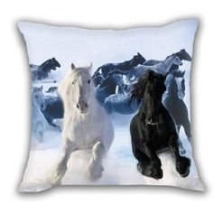 Horses Retro Throw Home Decorative Polyester Pillow Case Cushion Cover Crown