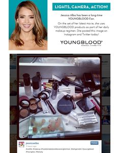 Jessica Alba loves Youngblood Mineral Cosmetics!  Click on the link to shop Youngblood http://www.facialcompany.com.au/Brand/Which/78/Youngblood.htm