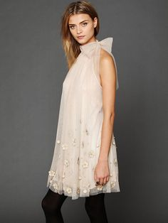 Free People Tulle Paillette Sleeveless