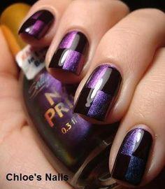 nail designs purple