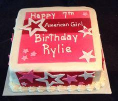 American girl cake   My custom cake designs dawnbakescakes.com ...