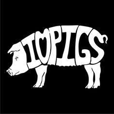 I Love Pigs | Love Pigs Window Vinyl Decal | Stick-Em-Up - Pets on ArtFire