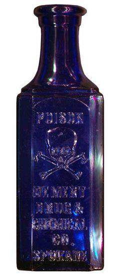 Demert Drug and Chemical Co. Spokane WA Antique Poison Bottle Hall of Fame Antique Glass Bottles, Bottles And Jars, Perfume Bottles, Cobalt Glass, Cobalt Blue, Vases, Medicine Bottles, Vintage Bottles, Vintage Perfume